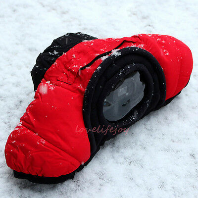 Winter Warm Waterproof  DSLR SLR Camera Bag Cold Proof Padded Case Pouch Cover