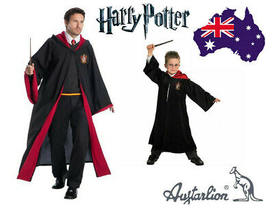 Book Week Adult Kids Harry Potter Gryffindor Robe Costume Tie Scarf Glasses Wand