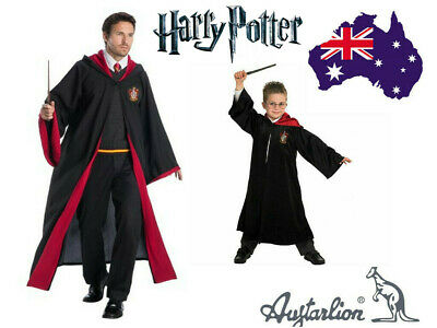 Book Week Adult&Kids Harry Potter Gryffindor Robe Costume Tie Scarf Wand Glasses