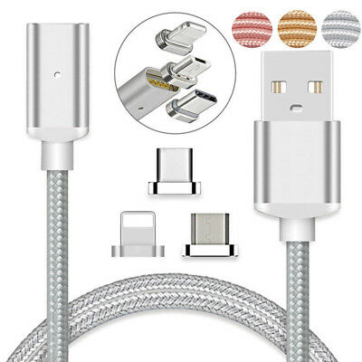 3FT Magnetic Micro USB Type C IOS Fast Charging Charger Data Sync Cable Cord