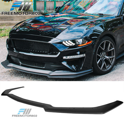 FOR 2018-19 MUSTANG GT PERFORMANCE STYLE ADD-ON FRONT BUMPER LIP SPLITTER ROD