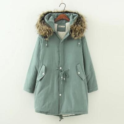 Women Lady Winter Warm Cotton Padded Thicken Jacket Coat Hooded Plus Size Zsell