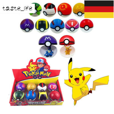 Collect 8PCS Set Pokemon Pokeball Kunststoff Ball Cartoon Model Monster Geschenk