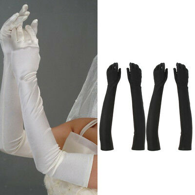 """2 Pairs Opera Party 20s Gloves Elbow Length 21"""" Wedding Party Prom Gloves"""