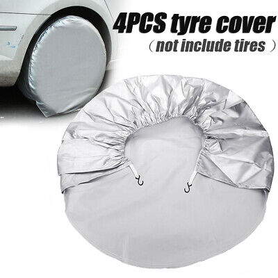 4x Car / Van Spare Tyre Cover Wheel Bag Storage For Any Wheel Size 69cm 28''