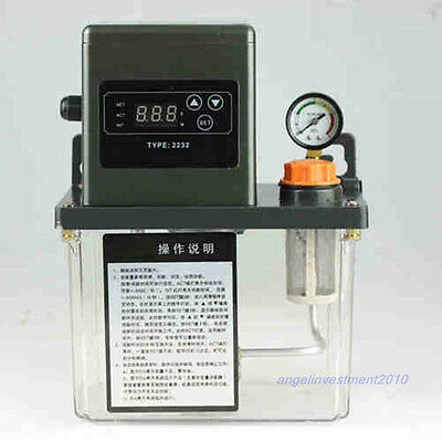 New 220VAC Auto Lubrication Pump 1.5Liter 1.5L CNC Digital Electronic Timer