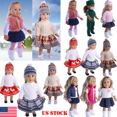 """Doll Clothes Pajames Laceskirt for 18"""" Doll Clothes Our Generation My Life Doll"""