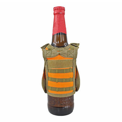 Tactical Vest Beer Water Bottle Mini Molle Vest Carrier Holder Cover