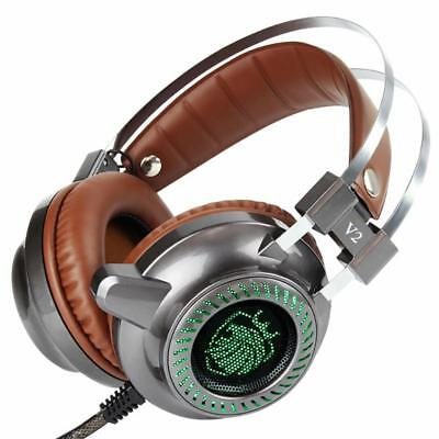 F15 LED LIGHT Gaming Headphone Stereo Bass Earphone with Microphone