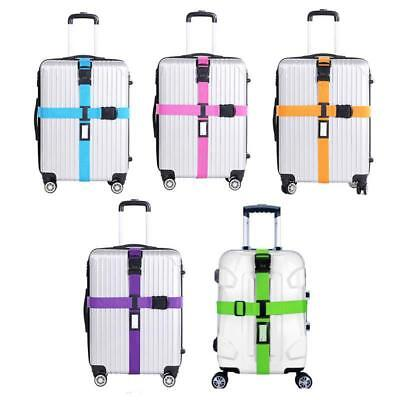 Luggage Strap Cross Belt Packing Adjustable Traveling Suitcase 3 Digits Password