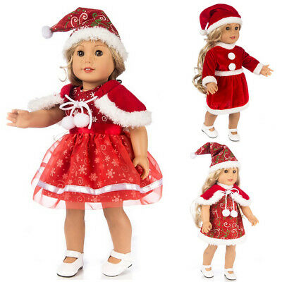AU Doll Clothes Xmas Dress for 18'' American Girl Our Generation My Life Dolls