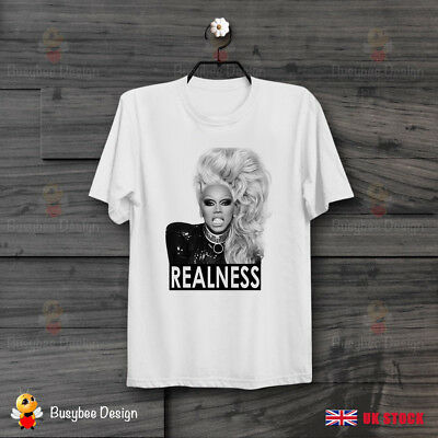 Realness RuPaul Drag Race Slogan LGBT Pride Gay Queen Cool Unisex T Shirt B478
