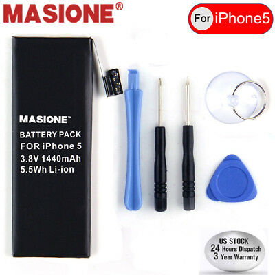 For iPhone 5 5G OEM Replacement 1440mAh Li-ion Battery w/ Flex Cable + Free Kit