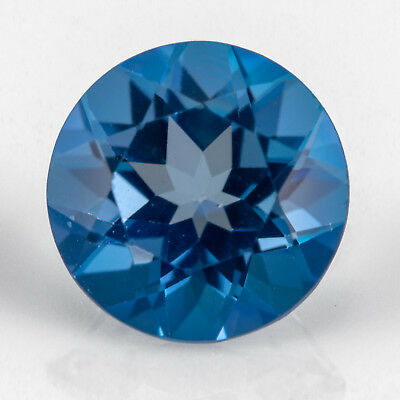 1.41ct Blue Topaz. A well cut gem with great depth of colour and fire. Eye clean