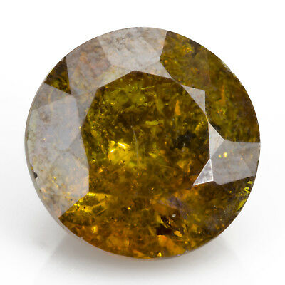 6.83 ct Sphalerite. A hard to come by, round and fiery, yellow gemstone.
