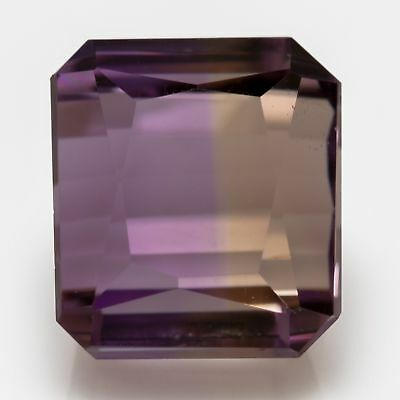 6.2ct Ametrine. An eye clean gem with a nice even colour split: Purple and Gold