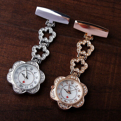 Stainless Steel Nurses Watch Metal Pin Brooch Quartz Fob Pocket Watches Medical