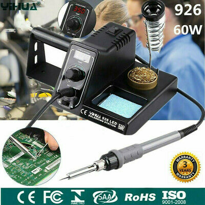 Digital 60W LED Soldering Iron Station Rework Welding Tool Variable Temperature