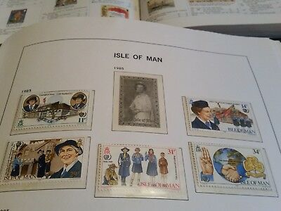 Isle Of Man 1985 Sg 281-285 75Th Anniv Of Girl Guides. Mnh