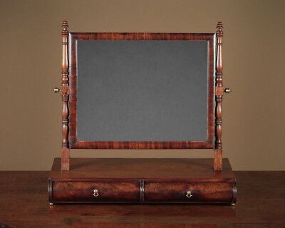 Antique Regency Mahogany Dressing Table Mirror with Drawers c.1830.