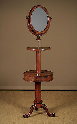 Antique Regency Mahogany Adjustable Mirror on Stand c.1830.