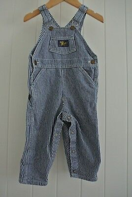 Trendy Stripe Overalls SZ 2 Unisex Denim Hip Boho Summer Winter Casual Party