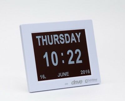 Large 8 Inch Digital Display Calendar Time Date Day Dementia Clock