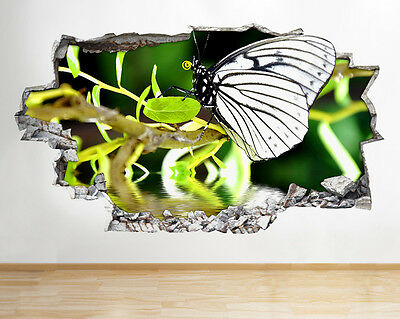 Q222w Ladybird Insect   Bedroom Smashed Wall Decal 3D Art Stickers Vinyl Room