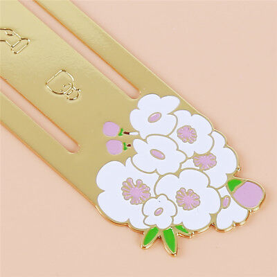 White Metal Cherry Blossom Bookmarks For Books Book Markers Gift For Readers 6A