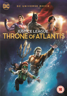 Justice League: Throne of Atlantis DVD (2018) Ethan Spaulding cert 15 ***NEW***