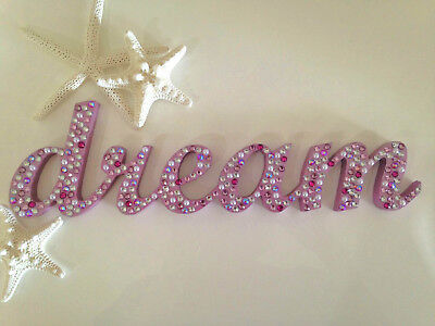 'dream' Christmas gift Hand decorated wooden word home decor