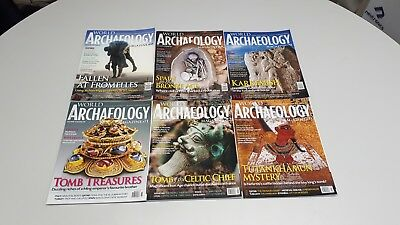 Current World Archaeology 2014/15. 6 Magazines - Issues 68 - 73
