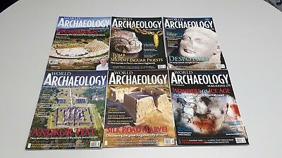 Current World Archaeology 2015/16. 6 Magazines - Issues 74 - 79