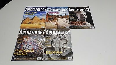 Current World Archaeology 2017/18. 5 Magazines - Issues 86 - 90