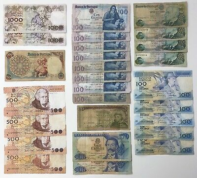 27 x Mixed Banknote Collection - PORTUGAL.  (2290)