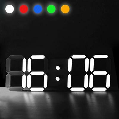24 Hour Display Digital LED Table Desk Night Wall Clock Alarm Watch Living Room