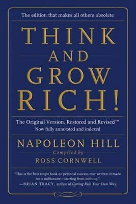 NEW Think and Grow Rich! By Napoleon Hill Paperback Free Shipping
