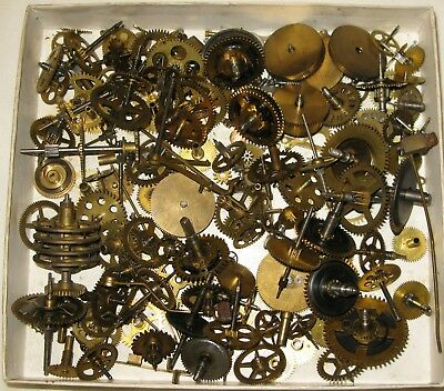 Clock Gear Wheels Train Parts Cogs Repair 700+g Brass