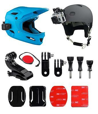 Helmet Mount Front + Side Kit, J-Hook Buckle Quick Release Clip 3M Adhesive Pads