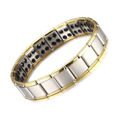 Titanium Steel Magnet Magnetic Therapy Energy Bracelet Men Health Care Gift New