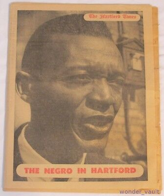The Negro in Hartford Times Vintage 1963 Newspaper Black Americana Connecticut