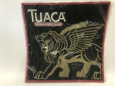 """NEW TUACA Brand Rubber Bar Mat 1/4"""" Thick -Black Backing -New in Package"""