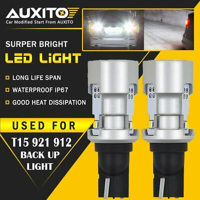 2X AUXITO T15 921 912 W16W LED Backup Reverse Light Bulb Canbus 6000k Bright EOA