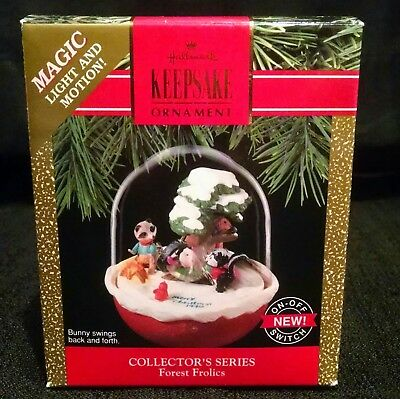 Hallmark Keepsake Forest Frolics Magic Light & Motion Ornament 1990