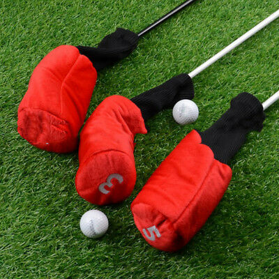 3 Pack Durable Head Golf Cover Headcover for Driver Fairway Wood Head