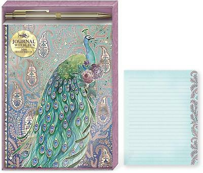 Punch Studio H8 Soft Cover Journal & Pen Set 6x8in - Peacock Paisley 43920