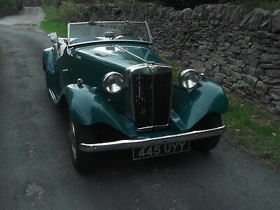 1953 Rare MGTD/C Factory competition model much work carried out