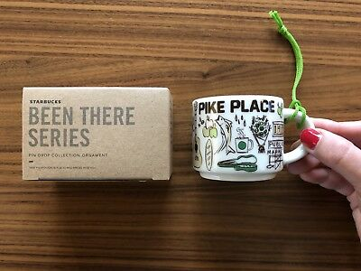 2018 First Starbucks Pike Place Holiday Christmas Ornament 2 oz Been There Xmas