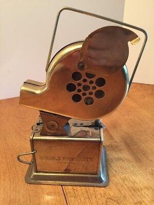 Vintage MIRACLE FIRE MAKER Solid Brass WOLCOTT Co. Hadlyme, CT