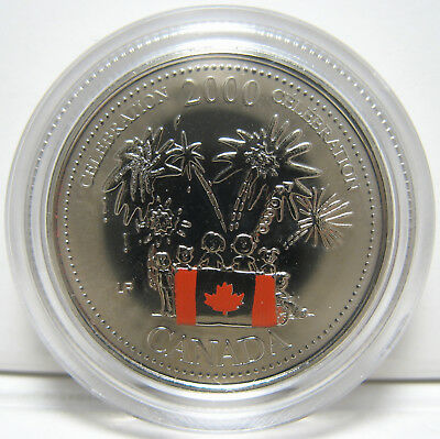 RCM - 2000 - 25-cents - Canada Day - Coloured - NBU - Coin in capsule ONLY